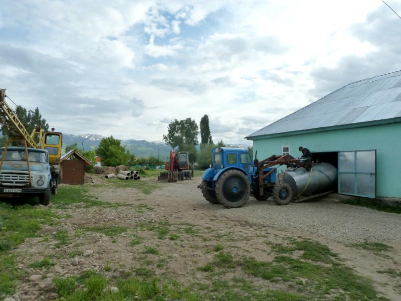 20130527. Обновление производственной линии в селе Шубар.