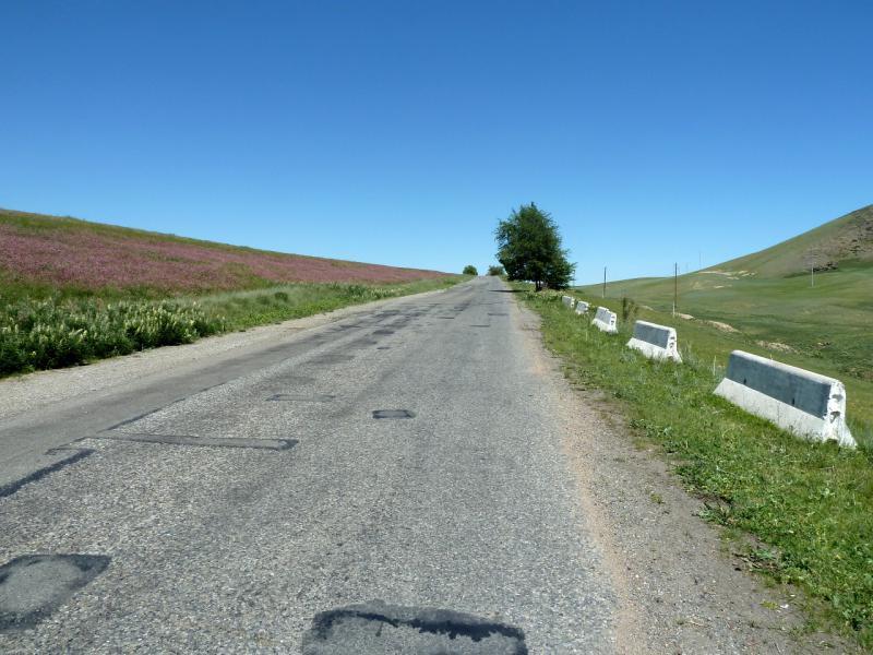20130528. На дороге P-125, в районе села Жалгызагаш.