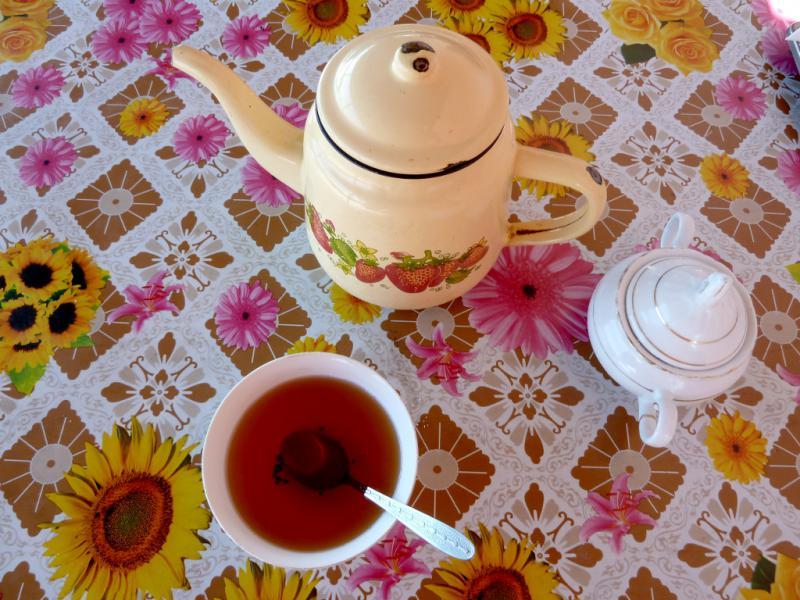 20130529. Суровый чайник в придорожной закусочной.