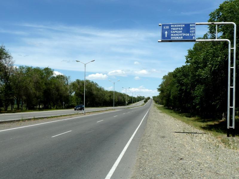 20130529. Трасса A-350, на выезде из Талдыкоргана.