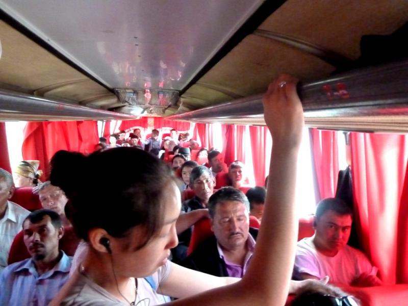 """20130530. В автобусе """"Талдыкорган - Семипалатинск""""."""