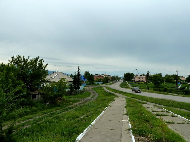 20130604. Въезд в село Большой Нарым.