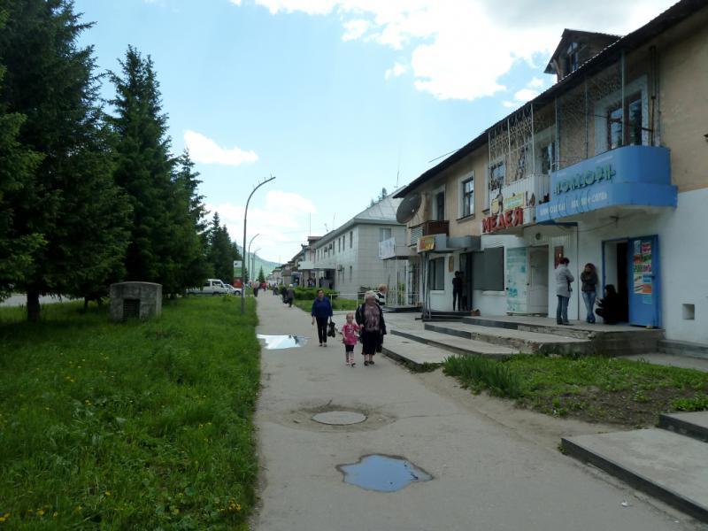20130605. Тротуарами главной улицы Зыряновска.