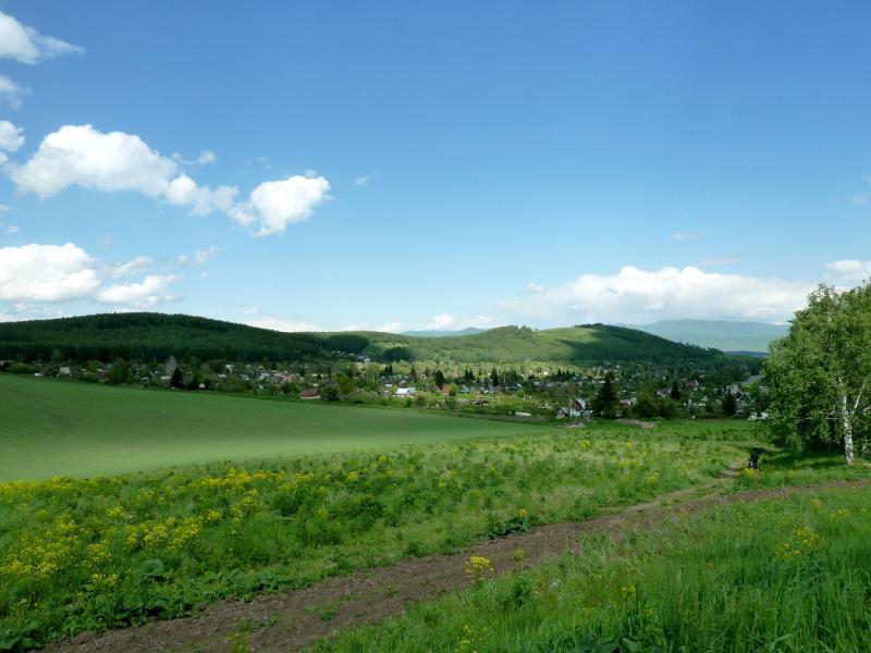 20130605. На западном выезде из Зыряновска, с видом на дачный сектор.