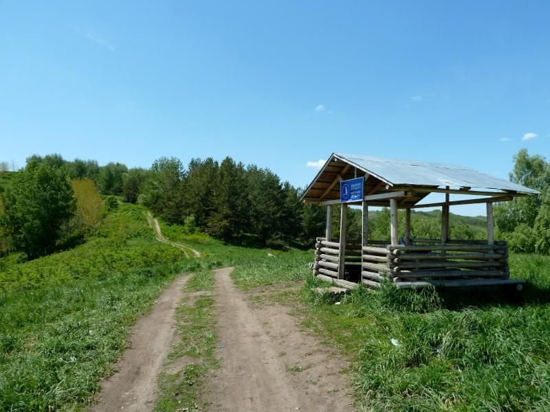 20130607. Беседка для отдыха на вершине перевала Осиновский.