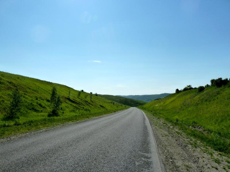 20130607. Спуск в долину речки Большая Феклистка.