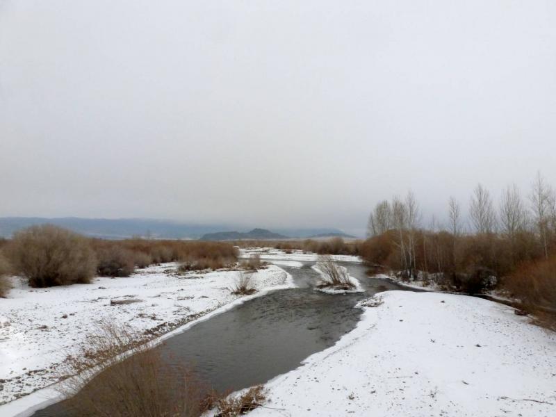 20191115. Речка Чыргакы (Чыргаакы), за пять километров до впадения в реку Хемчик.