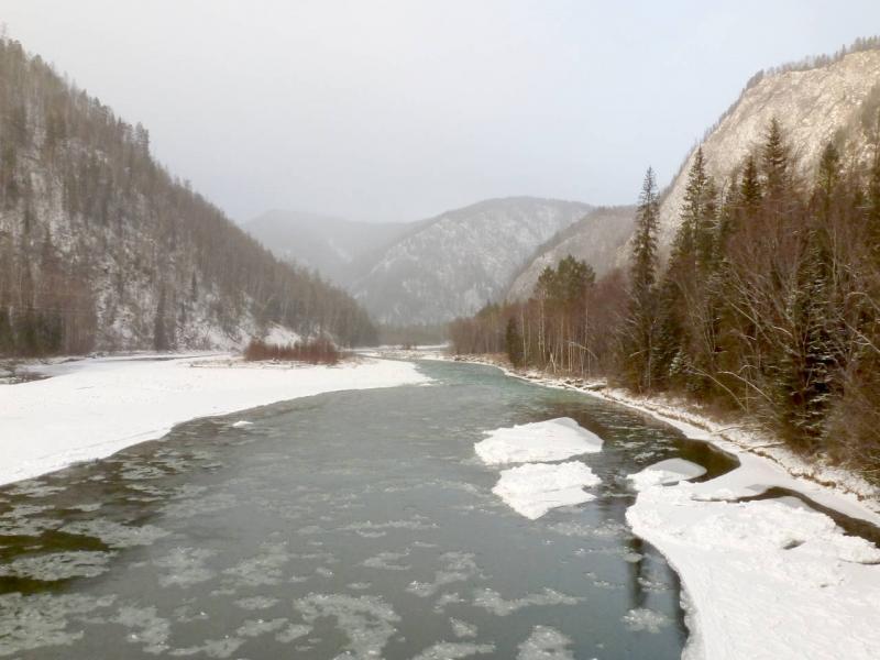 20191115. В середине хребта Западный Саян, на реке Он (Она).