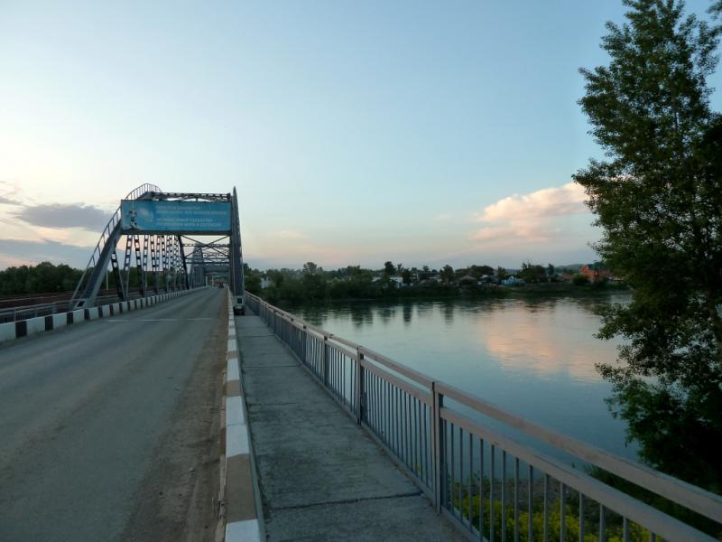 20130609. Мост через реку Уба в городке Шемонаиха.