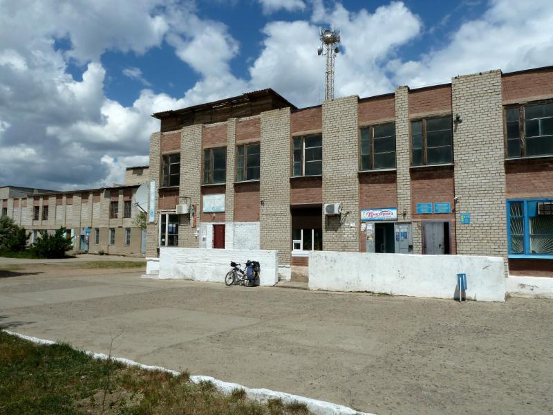 20130611. У центрального магазина Шульбинска.