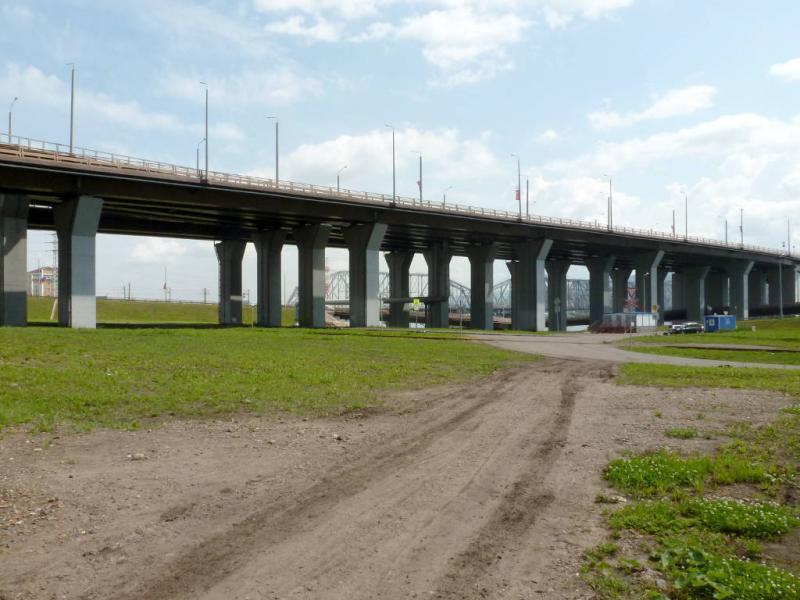 20200628. Красноярск. Проезд под Николаевским мостом.