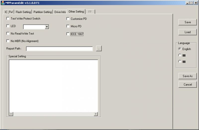 Phison MPALL v3.08: Отключаем IEEE 1667.