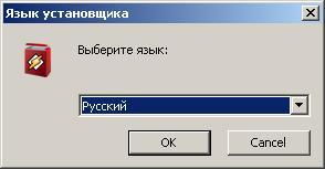Winamp: Выбираем язык установщика и устанавливаемого приложения.